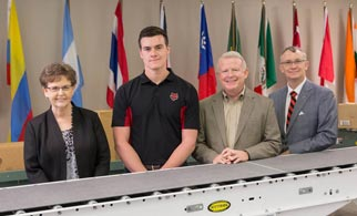 An aspiring engineering major at Arkansas State University is the inaugural recipient of the Hytrol Scholarship for Engineering.